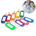 Lots 50/100pcs Plastic Key ID Labels Tags with Key Ring Split Rings Random Color