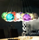 Any size LED Color Glass Mirror Ball Ceiling Pendant Light Modern Lamp Chandelie