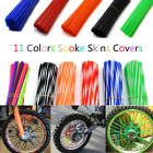 bicycle wheel spoke covers - 72PCS Spoke Skins Covers Motocross Dirt Bike Wheel Rim Spoke Wraps Skins Covers