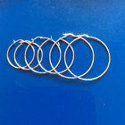 Hoop Earrings: 100% Real Genuine Solid 990 Silver, safe for skin Earrings