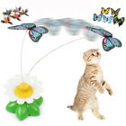 Electric Rotating Butterfly Bird Rod Wire Cat Teaser Toys For Pet Cats Kittens O