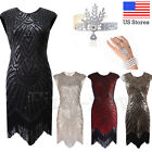 1920s Flapper Dress Gatsby Charleston Fringed Party Deco Sequins Vintage Dresses