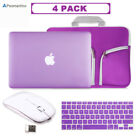 Hard Shell Case+KB Cover+Sleeve Bag+Wireless Mouse Macbook Air/Pro/Retina 13 15""