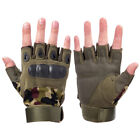 Tactical Hard Knuckle Half Finger Gloves Men's Army Military Airsoft FingerlessGloves & Mittens - 2994