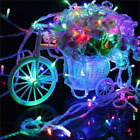 100/500 LED Fairy String Light Static/Flashing Xmas Christmas Tree Decor Bulbs
