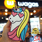 Cute Unicorn horse heart eyes 3D  Silicone Case Phone cover Fits iPhone 8 7 Plus