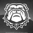 "Georgia Bulldogs Logo Vinyl Decal Sticker - 4"" Size and Up - More Colors!"