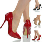 NEW WOMENS LADIES HIGH HEEL EVENING PARTY  OFFICE COURT SHOES SIZE