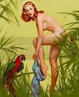 Gil Elvgren-Bare Essentials, Canvas/Paper Print, Pinup Girl