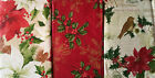 ASSORTED STYLES / SIZES CHRISTMAS VINYL /FLANNEL BACK TABLECLOTHS MULTI-COLOR