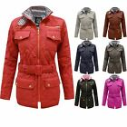 CLEARANCE NEW LADIES WOMENS BELTED QUILTED PADDED ZIP JACKET COAT TOP SIZES 8-14