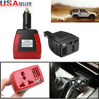 75W 12V DC to 110V Converter Car Power Inverter USB Cigarette Charger Adapter US