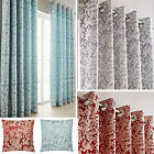 Orla Blossom Jacquard Design Eyelet Curtains (pair Of) - Now £10, £15, £20