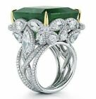 fancy rings - Fancy 925 Silver Filled Butterfly Rings 7.5ct Emerald Wedding Engagement ring