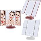 22 LED Touch Screen Makeup Mirror Tri-Fold Tabletop Stand Vanity Makeup Mirror