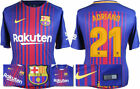 17 / 18 - NIKE ; BARCELONA HOME SHIRT SS / ADRIANO 21 = ADULTS