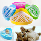 4x Pet Litter Pee Tray Toilet Small Animal Cat Dog Rabbit Hamster Plastic Corner