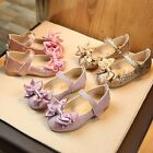 kids gold shoes - Child Kids Baby Girl Bowknot Party Dress Princess Shoes Shiny Leather Moccasins