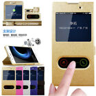 For Sony XZ1 Compact/XA1 Slim Leather Flip View Window Magnetic Stand Case Cover