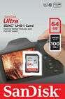 SanDisk Ultra 128GB 64GB 32GB 16GB 8GB SD SDHC SDXC Flash Card Lot Class10 80MBs