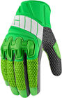 ICON OVERLORD 2 Mesh Leather/Textile Short Motorcycle Gloves (Green) Choose Size