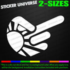 Middle Finger Rising Sun Hand Sign Funny Car Window Decal Bumper Sticker JDM 680