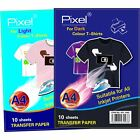 Pixel Iron-On T-Shirt Transfer Paper For Light or Dark Fabrics A4 Paper