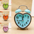 Classic Retro Portable Heart-shaped Bedroom Home Student Mute Alarm Clock Child