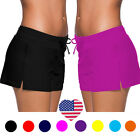 Hot Women Full Coverage Surf Swim Shorts Drawstring Swimwear Stretchy Bottom SFC