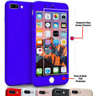 360° Protection Acrylic Hard Case Tempered Glass Cover For