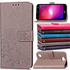 Retro Embossed Leather Wallet Flip Stand Protective Case Cover For LG X Power 2