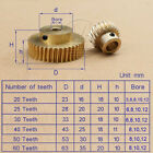 1 Modulus Brass 20 to 60 Tooth Gear, Worm OD 18mm for Shaft Drive Gearbox