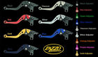 SUZUKI 2009-17 GSXR 1000 PAZZO RACING ADJUSTABLE LEVERS -  ALL COLORS / LENGTHS