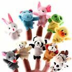 10Pcs Family Finger Puppets Cloth Doll Baby Educational Hand Cartoon Animal Toy@