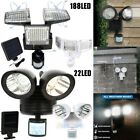 22 LED Dual Security Detector Solar Spot Light Motion Sensor Outdoor Floodlight