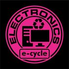 Electronics Recycling Decal Sticker e-cycle - Home & Office Use! Choose Size!