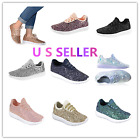 silver shoes kids - Link Kids Todddler Girls Fashion Sneaker-Lightweight Glitter Flat Lace Up Shoes