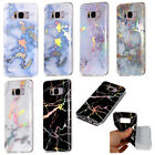 Granite Marble Pattern Slim Soft TPU Gel Case Cover For Samsung A3 S6 S7 S8 Plus