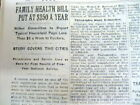 1932 NY Times newspaper MEDICAL CARE costs $250/year+ Doctors endorse cigarettes