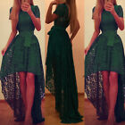 US Women Lady Prom Evening Party Cocktail Wedding Ball Gown Lace Formal Dress