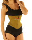 Strong Under Bust Green Cotton Twill Corset Basque
