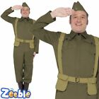 Mens 40s WW2 Home Guard Private Uniform Dads Army Adult Fancy Dress Costume