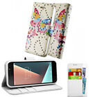 Vodafone Smart Ultra 6 Pouch Cover Case Wallet Leather Phone Printed Butterfly