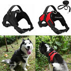 Small Large Dog Soft Reflective Harness Pet Walking Hand Strap Leash Vest Collar