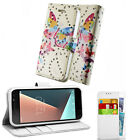 Vodafone Smart Prime 6 Pouch Cover Case Wallet Leather Phone Printed Butterfly
