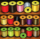 UNI Waxed Thread 3/0, 6/0, 8/0 Fly Tying Materials - All Colors & Sizes