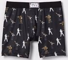 Star Wars Mens Boxer Brief Underwear All Over Print S M Black Han Solo Chewie