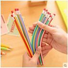 5PCS/10PCS colorful flexible with eraser student office stationery soft pencil
