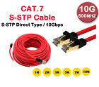 CAT.7 S-STP Gigabyte cable 1~10M Network Ethernet Cable 600MHZ speed Gold Shield