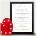 PERSONALISED Love Poem Keepsake Valentines Day Gifts Presents for Him Her Mr Mrs